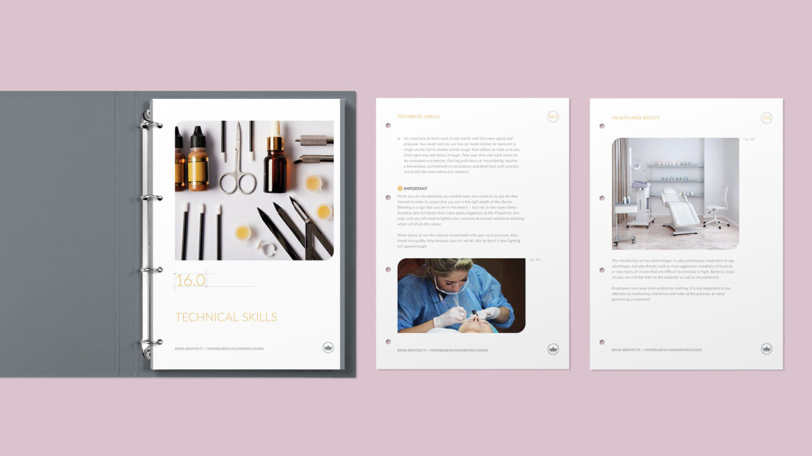 Training Manual Design and Dividers