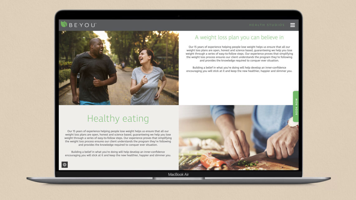 Website for Be You Health Studios