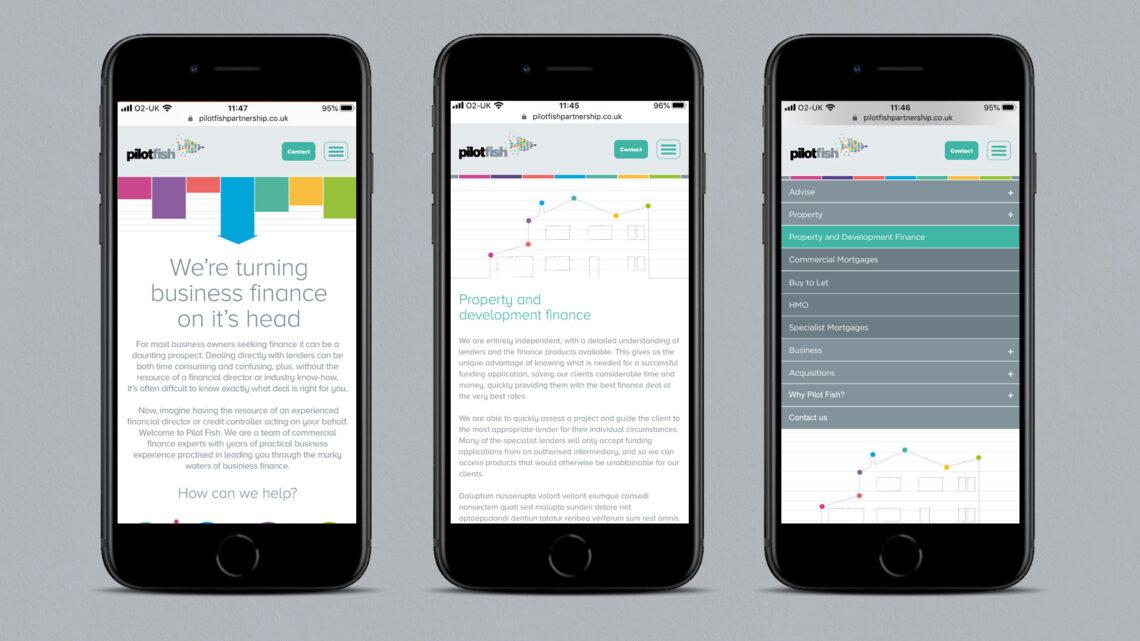 mobile website for pilotfish