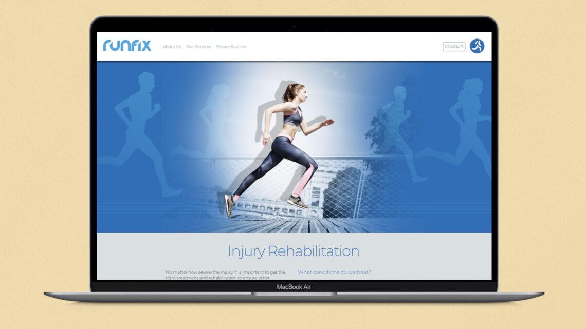Runfix website design