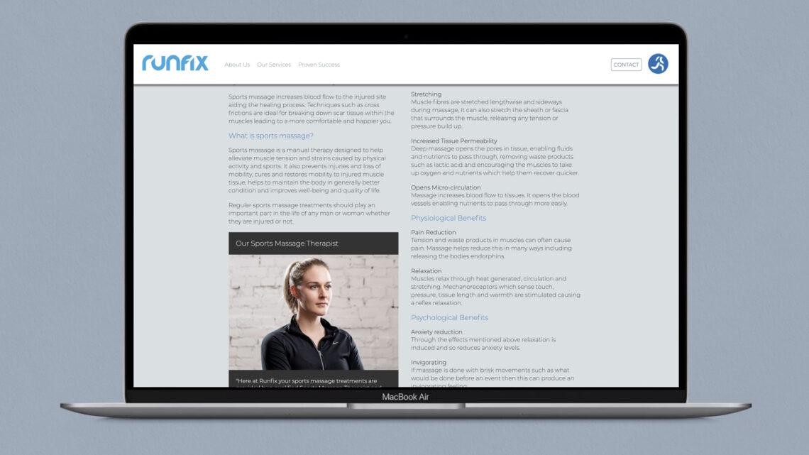 Web Design for Runfix