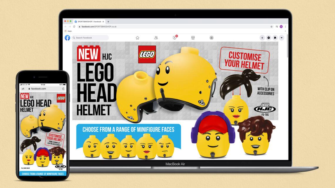 lego head helmet ad creative