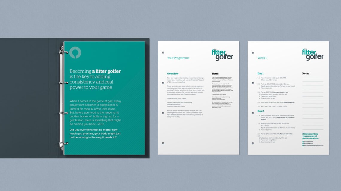 The Fitter Golfer Welcome Pack