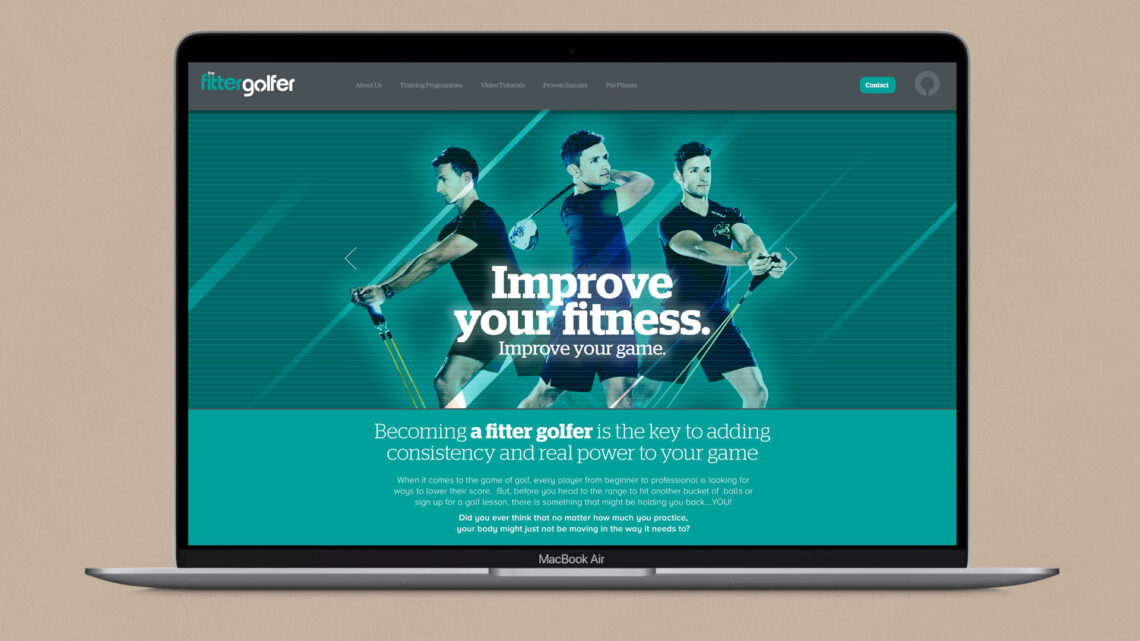 The Fitter Golfer Website design