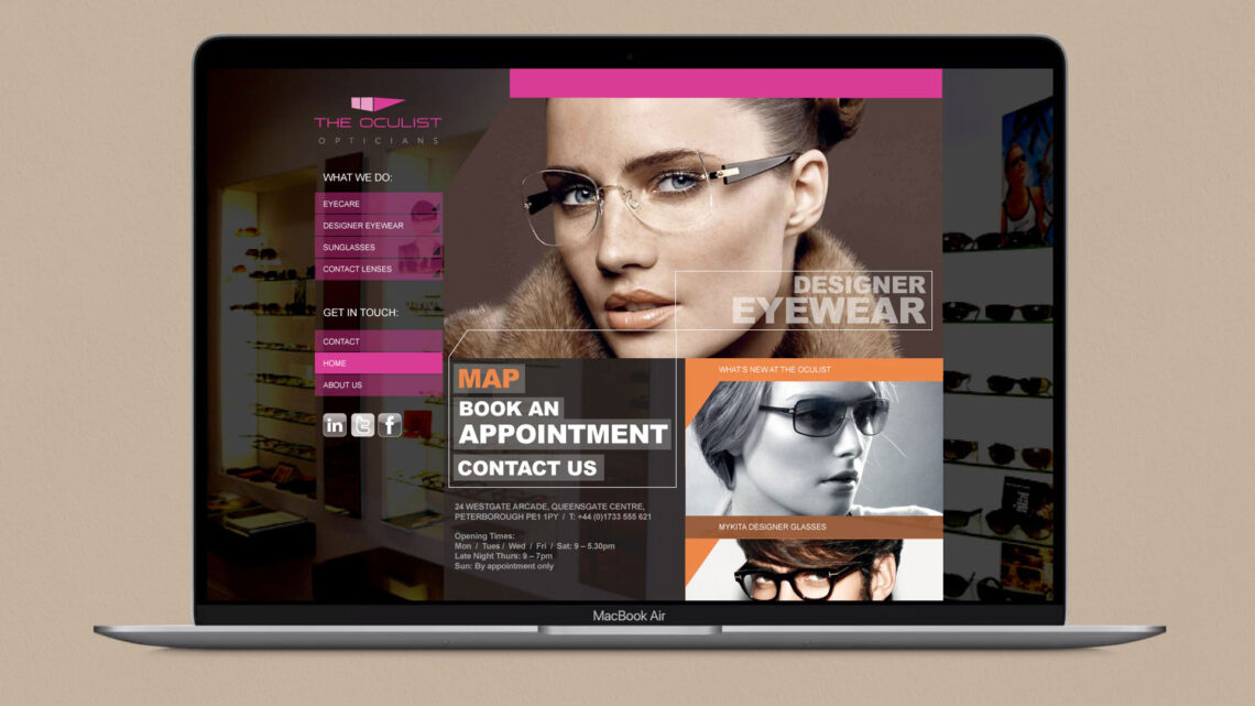 The Oculist Web Design
